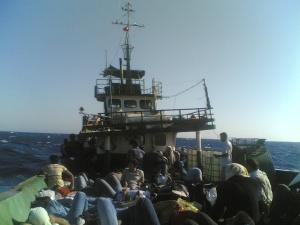 Traversée de la Méditerranée en 2009 par un Kurde âgé de 25 ans. Photo exclusive de Voix d'Exils.