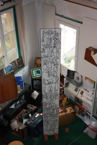 """""""La colonne des nantis"""". Elle symbolise ceux qui ont un avenir et un statut"""