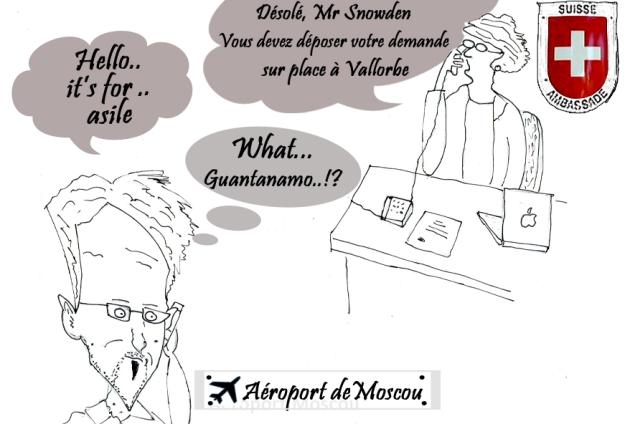 Carricature signée:r Sara et Pastodelou, membres de la rédaction vaudoise de Voix d'Exils