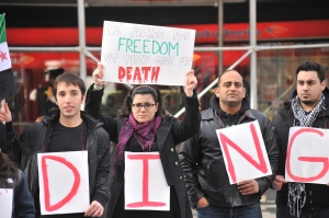 Syria Is BLEEDING ! Syrians' Protest in Times Square - Manhattan, New York City - 03/10/12 .  (CC BY-NC-ND 2.0)
