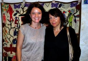 """Natacha Noverraz, relations donateurs et partenaires à Appartenances et Mirabelle Bailly, responsable de l'exposition """"talents Aiguilles"""""""