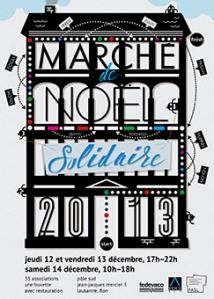 Affiche de la 7ème édition du Marché de Noël solidaire