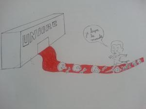Un dessin produit par la rédaction neuchâteloise de Voix d'Exils.