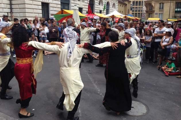 La journée des réfugiés 2014 célébrée à Neuchâtel. Auteur: Hossein