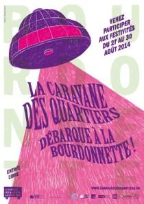 Affiche de la Caravane des Quartiers version Bourdonnette.