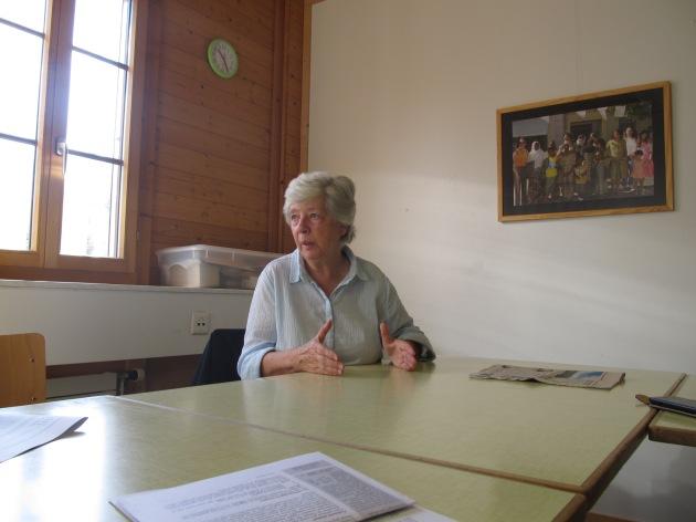 Mme Françoise Jacquemettaz. Photo: Voix d'Exils