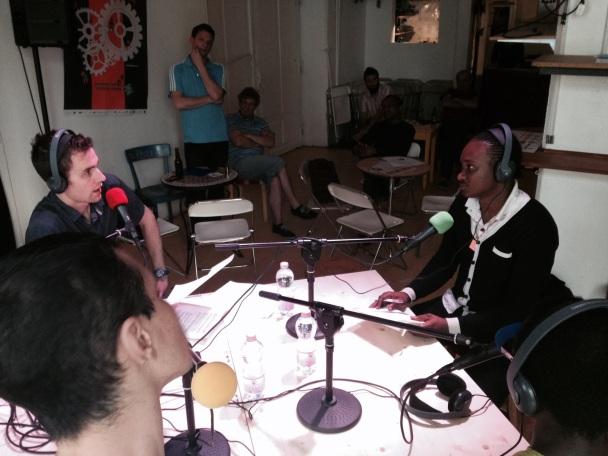 Ibrahima de Voix d'Exils  interviewé par Fabien de radio Djang'O