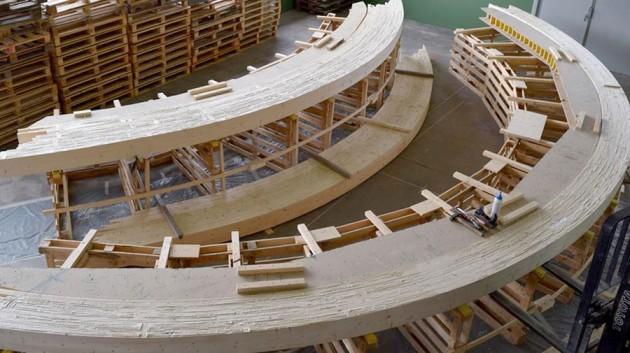 Le pont en construction. Photo: État du Valais